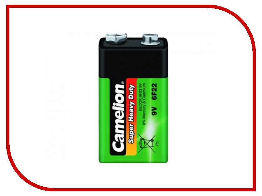 Батарейка КРОНА Camelion 6F22 Green 6F22-BP1G