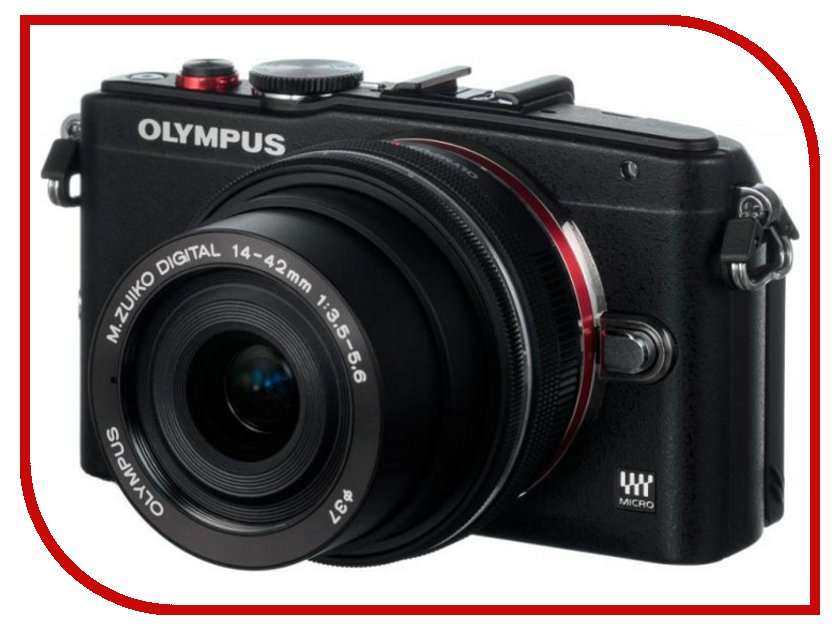 Фотоаппарат Olympus PEN E-PL6 Kit 14-42 mm II R Black<br>