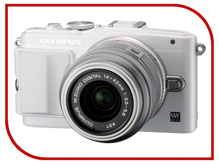 Фотоаппарат Olympus PEN E-PL6 Kit 14-42 mm II R White-Silver<br>