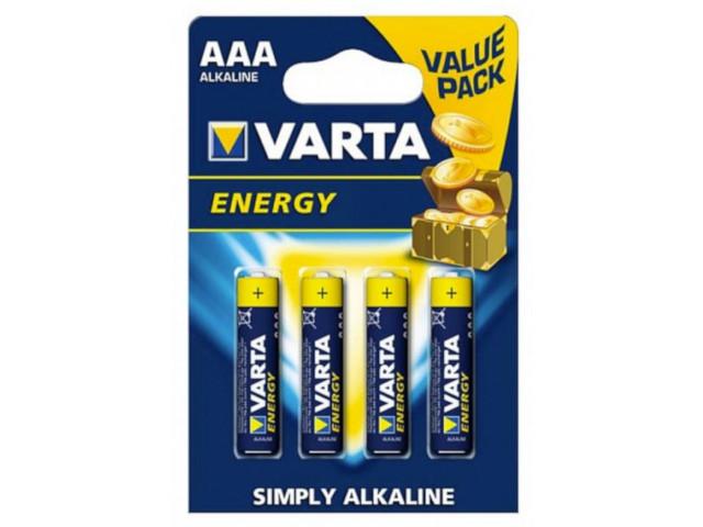 Батарейка AAA - Varta Energy 4103 LR03 (4 штуки) 12693 батарейка aaa pkcell lr03 2b 2 штуки