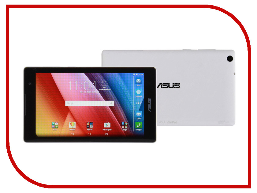 Планшет ASUS ZenPad 7 Z170CG-1B019A White 90NP01Y2-M00770 Intel Atom C3200RK/1024MB/16Gb/3G/Wi-Fi/Bluetooth/Cam/7.0/1024x600/Android<br>