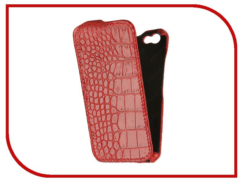 Аксессуар Чехол Abilita for iPhone 6 4.7 кожаный Red Crocodile AIPH647<br>