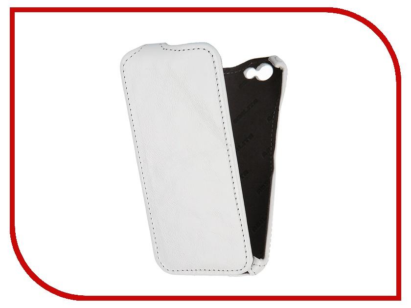 Аксессуар Чехол Abilita for iPhone 6 4.7 кожаный White наплак AIPH647<br>