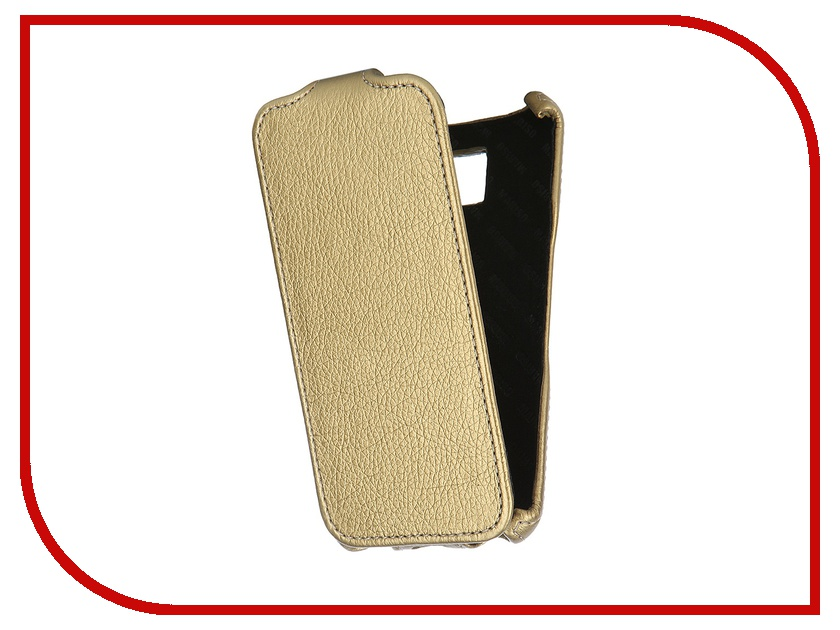 Аксессуар Чехол Samsung Galaxy S6 SM-G920 Mariso Gold MSAMS6G920 чехол из экокожи для samsung galaxy a7 2016 sm a710 светло зеленый mariso