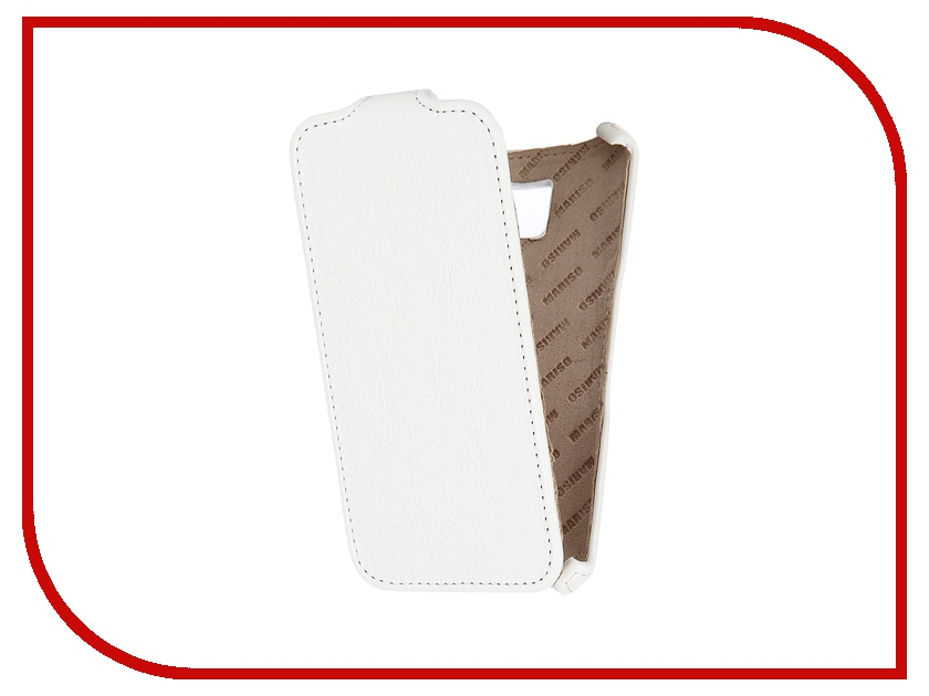 Аксессуар Чехол Samsung Galaxy S6 SM-G920 Mariso White MSAMS6G920 чехол из экокожи для samsung galaxy a7 2016 sm a710 светло зеленый mariso