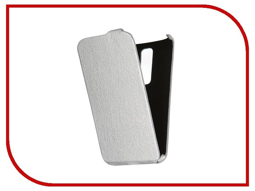 Аксессуар Чехол-книжка Mariso for ASUS ZenFone 2 Ultra Slim экокожа Silver Флотер MUSASUSZENFONE2