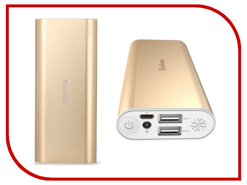 Аккумулятор Yoobao Power Bank 10000 mAh SP2 Gold