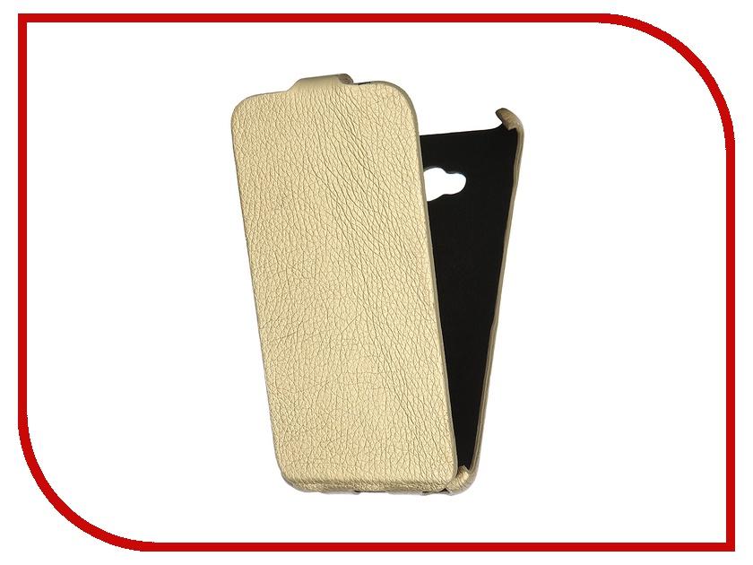 Аксессуар Чехол-книжка Mariso for Microsoft Lumia 640 Ultra Slim экокожа Gold Флотер MUSMICLUM640<br>