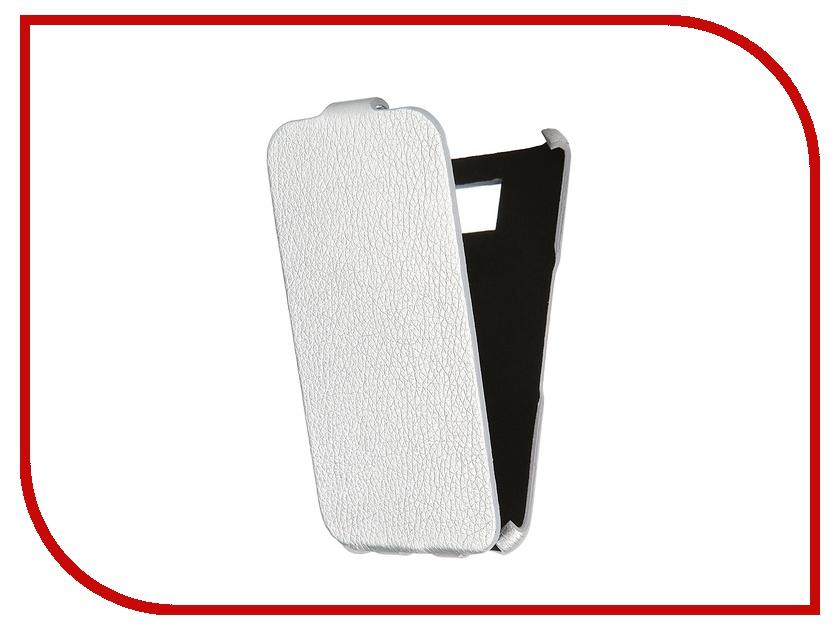 Аксессуар Чехол-книжка Samsung Galaxy S6 SM-G920 Mariso Ultra Slim экокожа Silver Флотер MUSSAMS6G920<br>