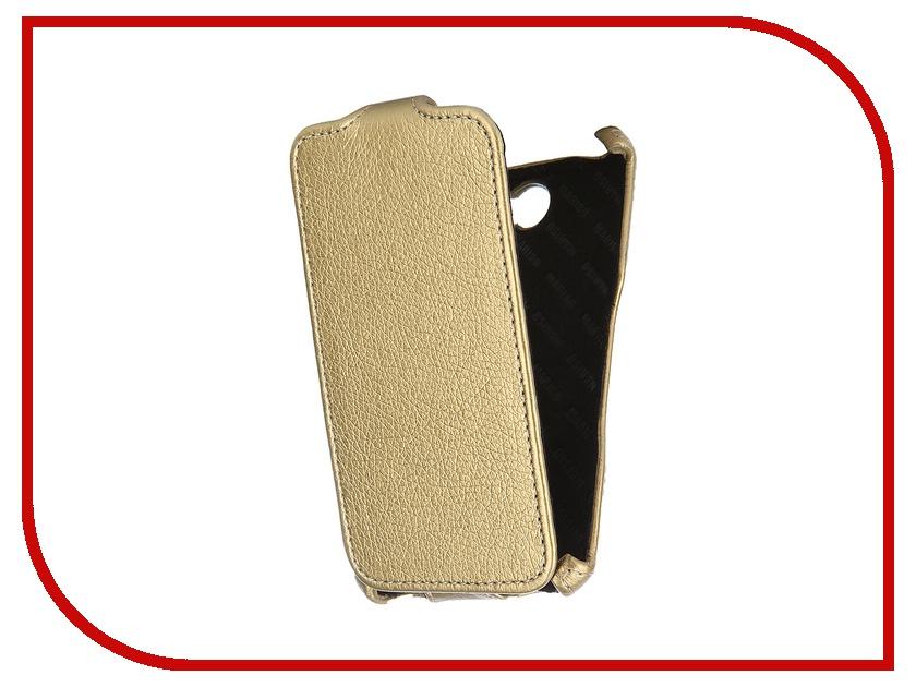 Аксессуар Чехол-книжка Sony Xperia E4 Mariso экокожа Gold Флотер MSONYXPE4 аксессуар чехол lenovo a5000 aksberry black