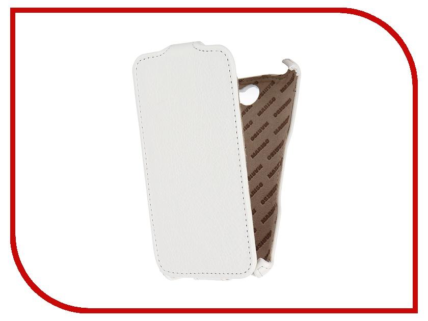 купить Аксессуар Чехол-книжка Sony Xperia E4 Mariso экокожа White Флотер MSONYXPE4 недорого