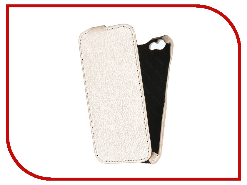 Аксессуар Чехол-книжка Mariso для iPhone 6 экокожа Beige Флотер MIPH647<br>