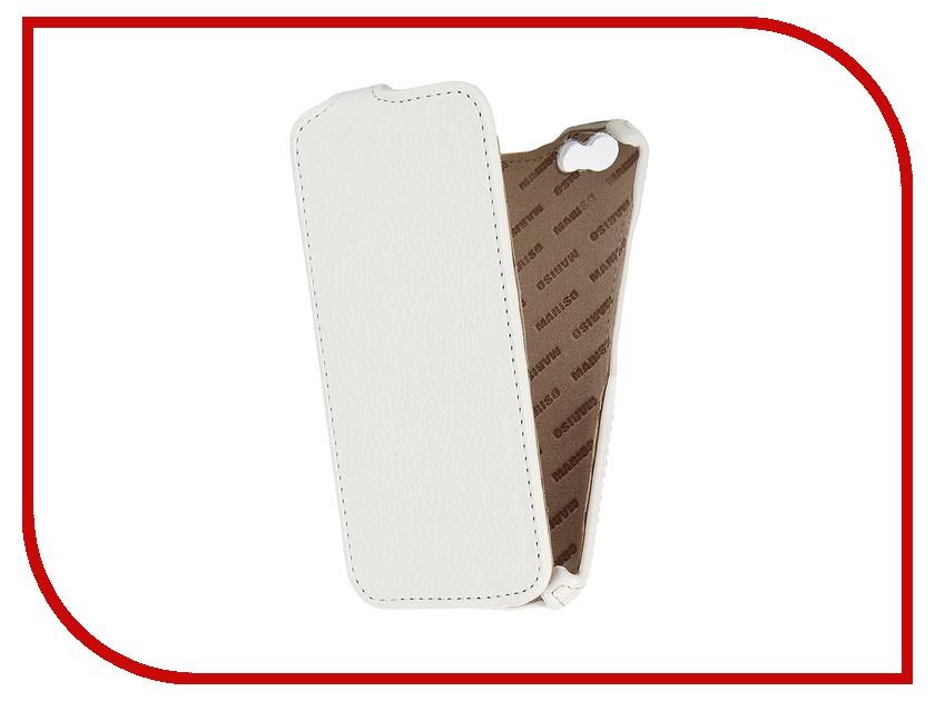 Аксессуар Чехол-книжка Mariso для iPhone 6 экокожа White Флотер MIPH647<br>