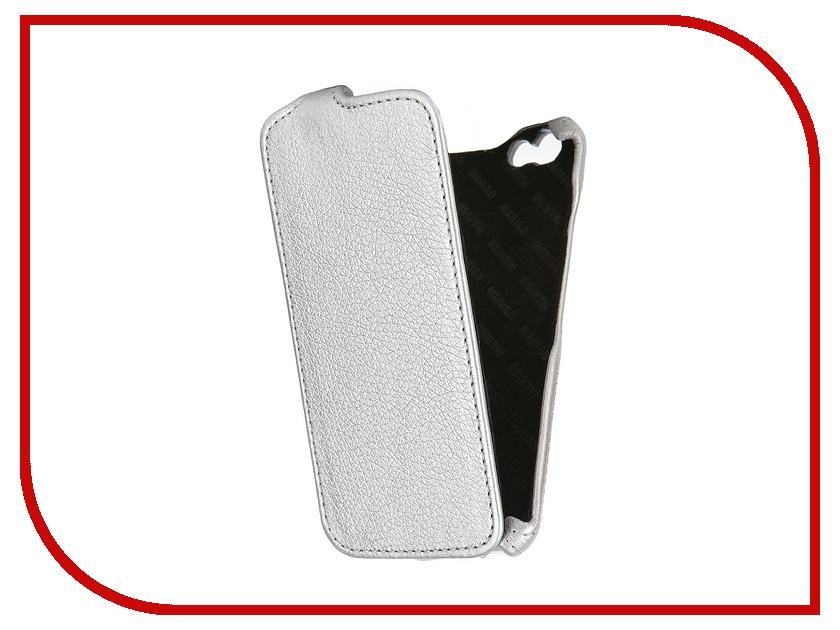 Аксессуар Чехол-книжка Mariso для iPhone 6 экокожа Silver Флотер MIPH647