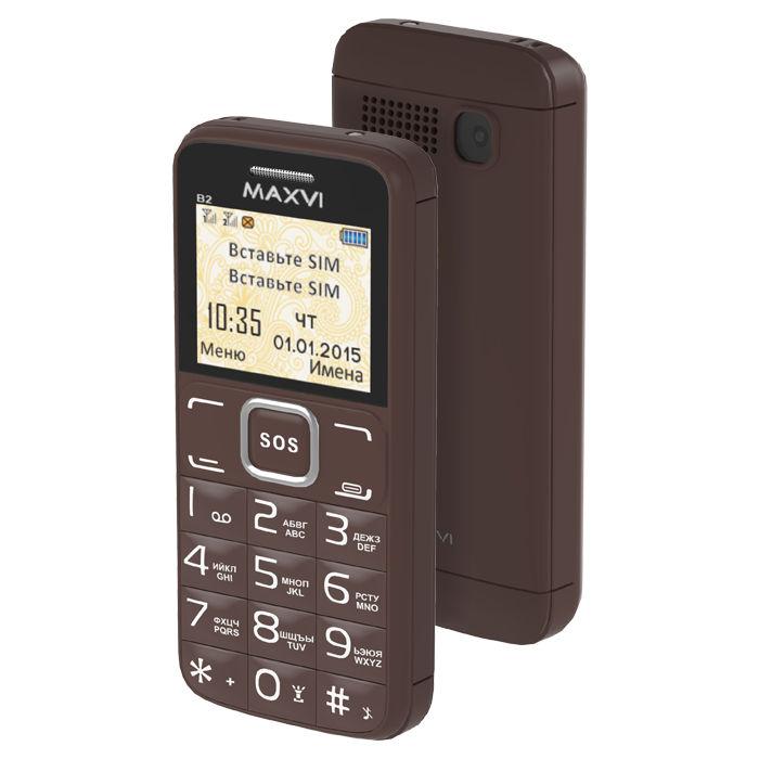 Сотовый телефон Maxvi B2 Coffee