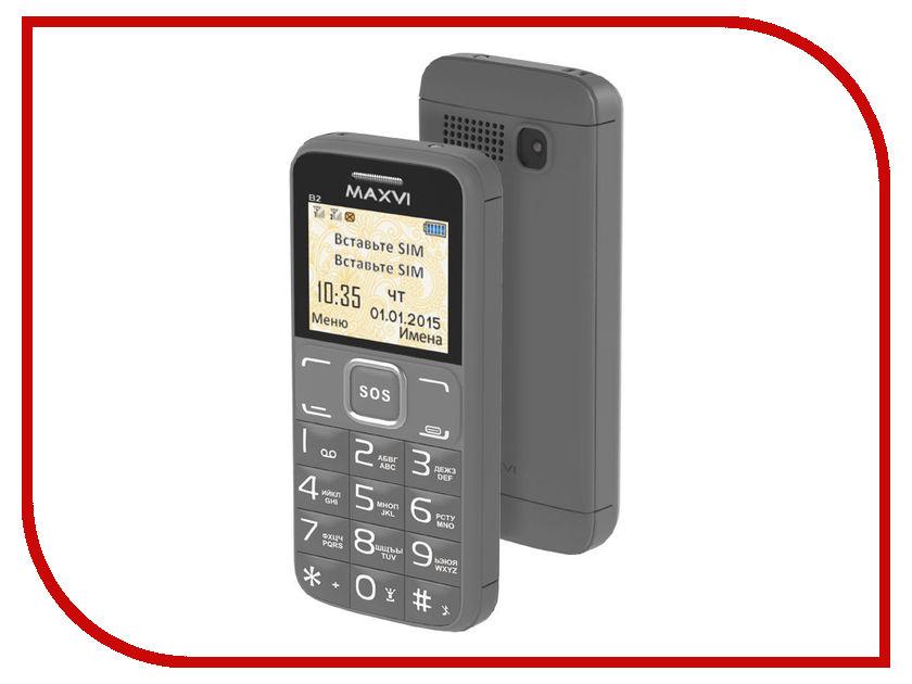 Сотовый телефон Maxvi B2 Grey<br>