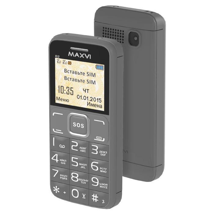 Сотовый телефон Maxvi B2 Grey