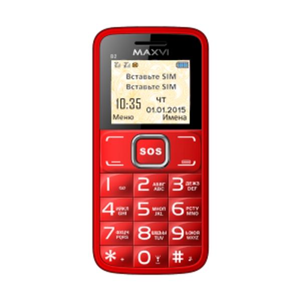 Сотовый телефон Maxvi B2 Red maxvi k10