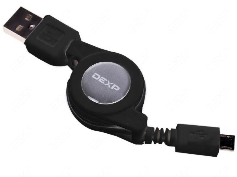 Аксессуар DEXP micro USB - USB 0.8m Black UMBAR080