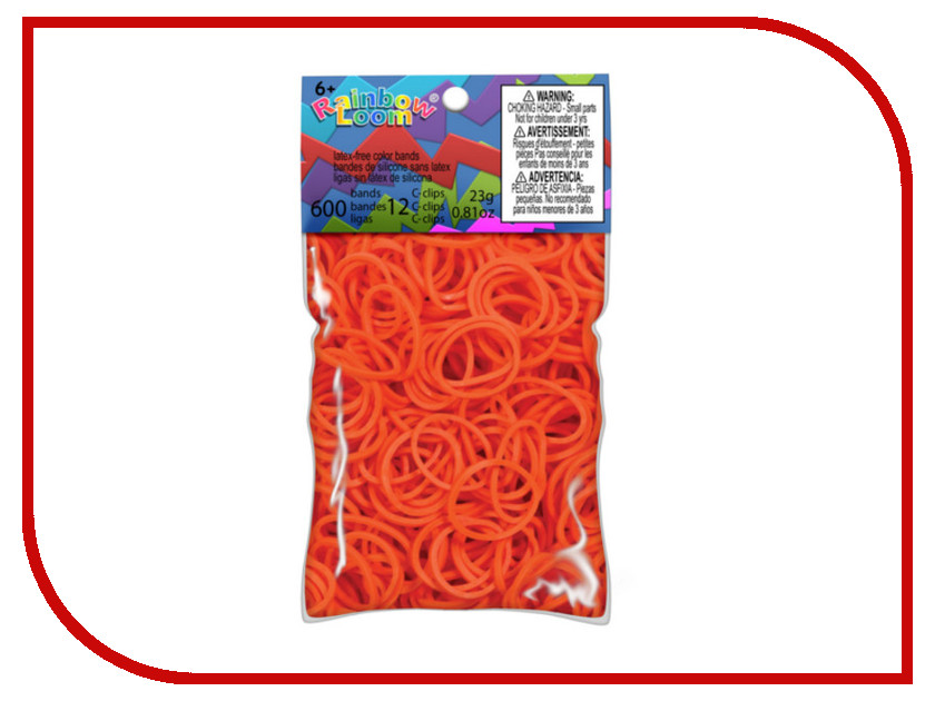 Набор для творчества DIY Loom Bands 600 шт K-102-11 Dark-Orange<br>