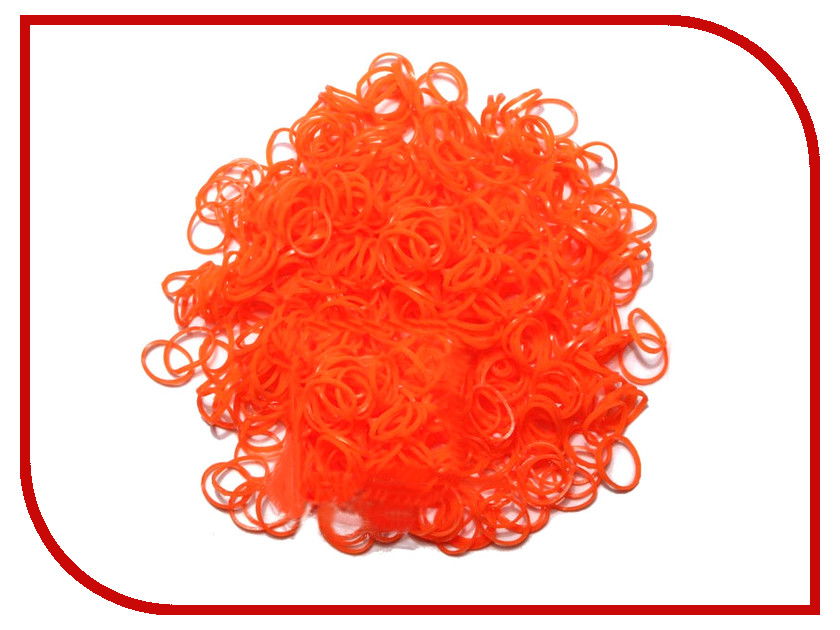 Набор для творчества DIY Loom Bands 200 шт K-100-3 Dark-Orange