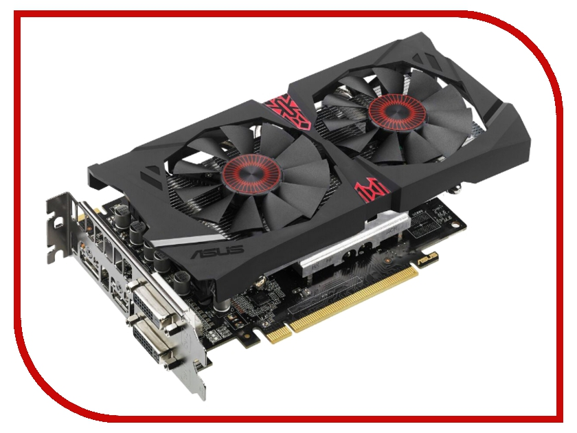 Видеокарта ASUS Radeon R7 370 1050Mhz PCI-E 3.0 4096Mb 5600Mhz 256 bit 2xDVI HDMI HDCP STRIX-R7370-DC2OC-4GD5-GAMING<br>