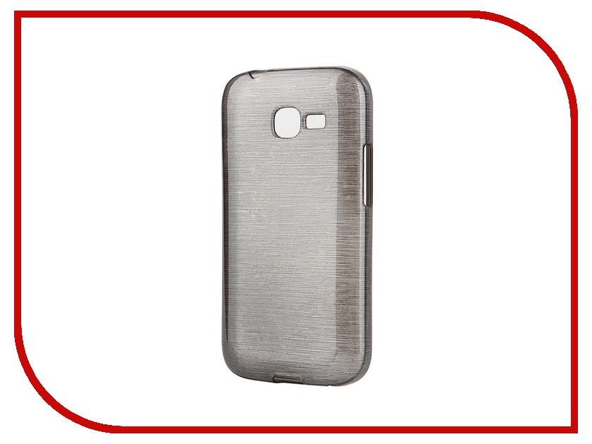 Аксессуар Чехол-накладка Gecko for Samsung Galaxy Star Plus S7262 Metallic силиконовый Black S-GM-SAM7262-BLACK<br>