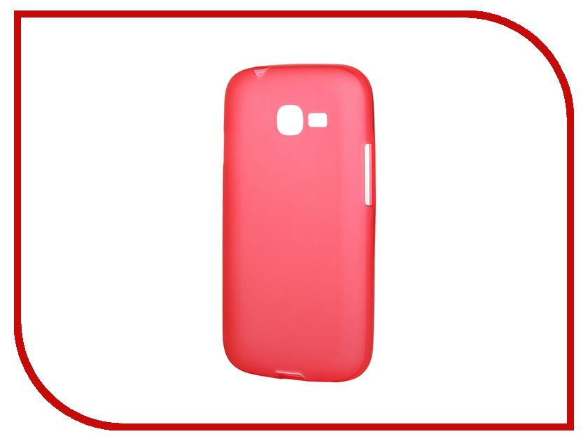 Аксессуар Чехол-накладка Gecko for Samsung Galaxy Star Plus S7262 силиконовый Red S-G-SAM7262-RED
