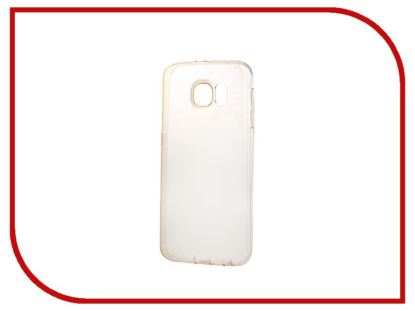Аксессуар Чехол-накладка Samsung G920F Galaxy S6 ROCK Slim Jacket Clear-Gold 87884<br>