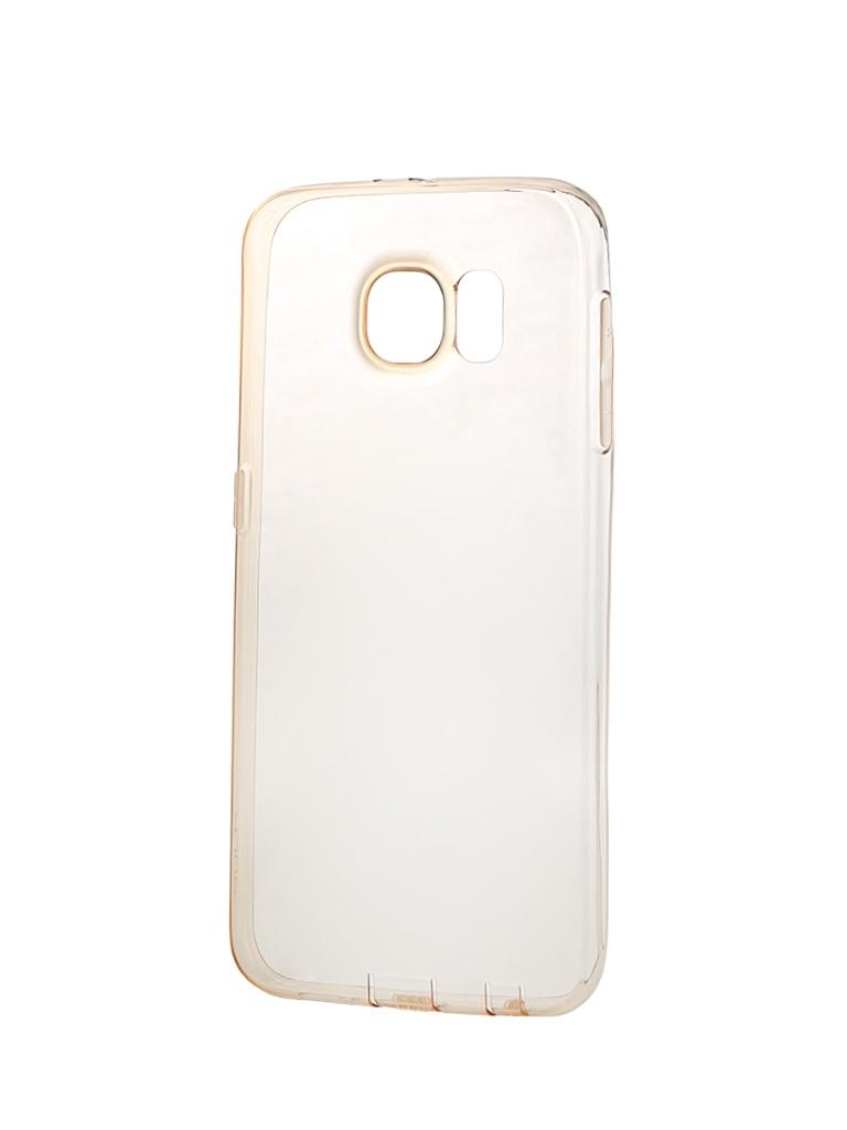 Аксессуар Чехол Samsung Galaxy S6 ROCK Slim Jacket Clear-Gold 87884<br>