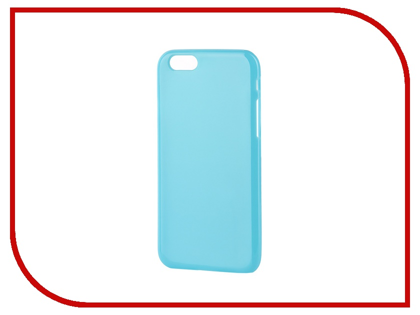 Аксессуар Чехол-накладка Gecko for iPhone 6 силиконовый Blue S-G-IP6-DBLU<br>