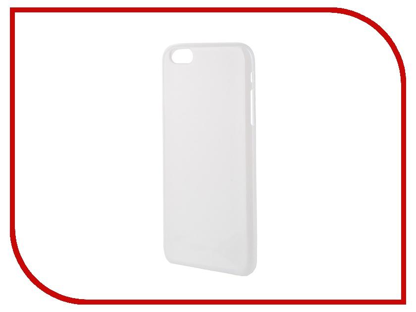 Аксессуар Чехол-накладка Gecko for iPhone 6 Plus силиконовый White S-G-IP6P-WH аксессуар чехол nokia 230 230 dual sim gecko transparent glossy white s g nok230 wh