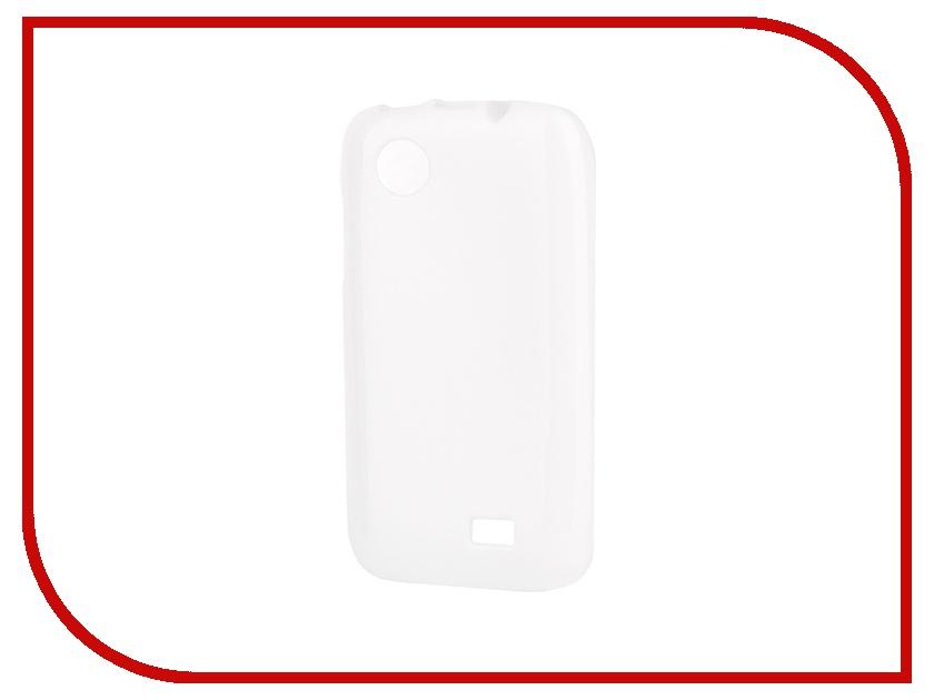 Аксессуар Чехол-накладка Lenovo A369 Gecko силиконовый White S-G-LEN369-WH