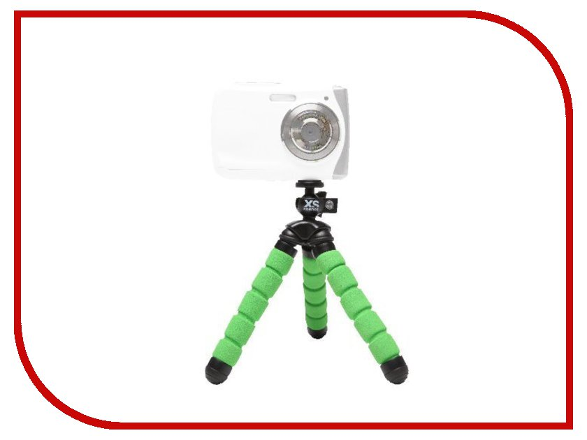 Мини-штатив Xsories Mini Bendy MTRI\BGR Black-Green<br>