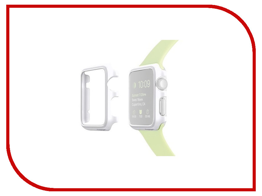 Аксессуар Клип-кейс APPLE Watch 38mm Spigen SGP Thin Fit White SGP11488
