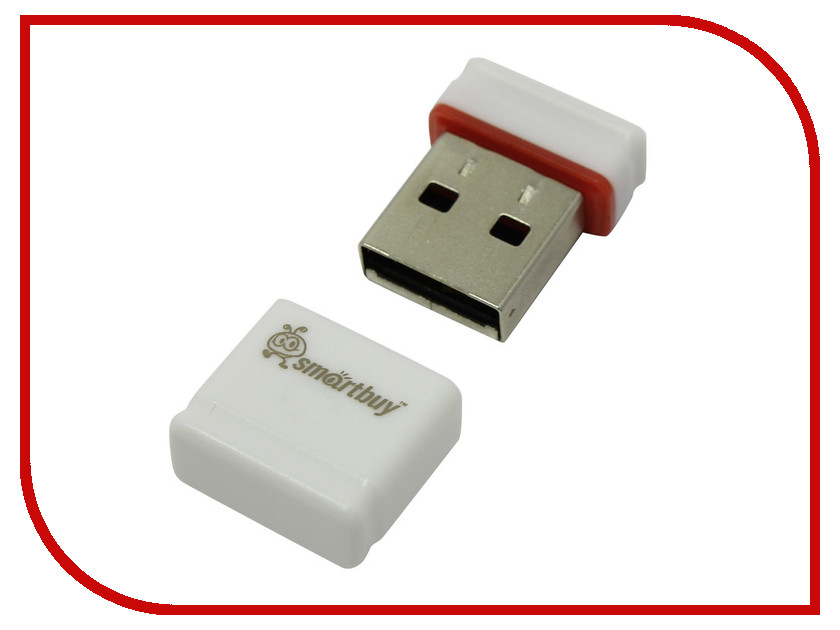 USB Flash Drive 4Gb - SmartBuy Pocket Series White SB4GBPoc W<br>