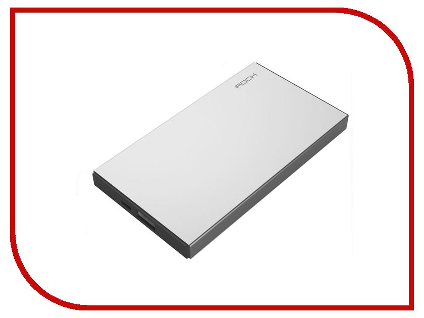 Аккумулятор ROCK Stone Power Bank 10000 mAh RMP0301 Silver 88683<br>
