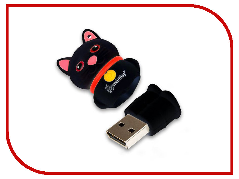 USB Flash Drive 16Gb - SmartBuy Wild Series Catty Black SB16GBCatK usb flash drive 16gb smartbuy crown black sb16gbcrw k