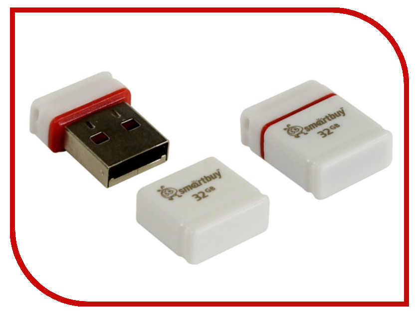 USB Flash Drive 32Gb - SmartBuy Pocket Series White SB32GBPoc W<br>