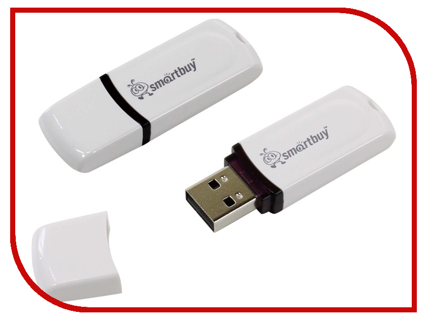 Фото USB Flash Drive 32Gb - SmartBuy Paean White SB32GBPN-W