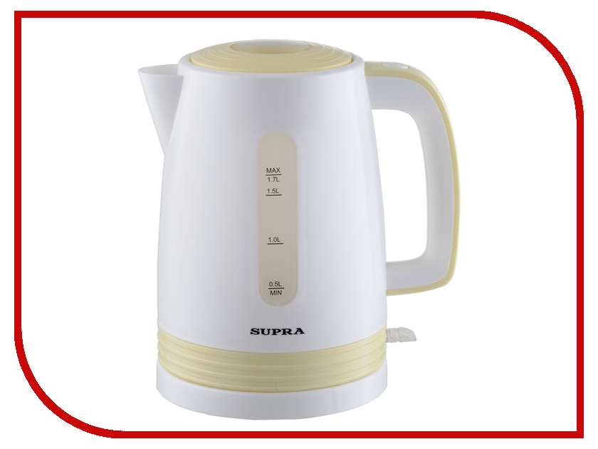 Чайник SUPRA KES-1723 (2015) White-Yellow supra kes 1723 white grey