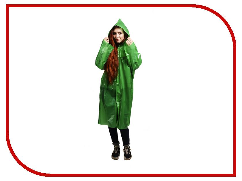 Плащ-дождевик Русский дождевик Люкс 80мкр р.UNI Green