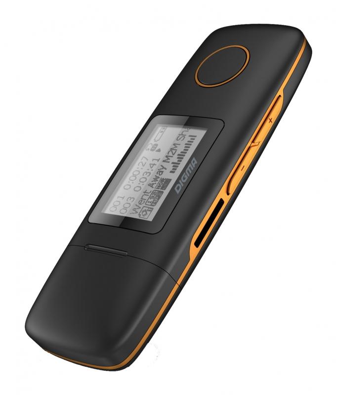 лучшая цена Плеер Digma U3 - 4Gb Black-Orange
