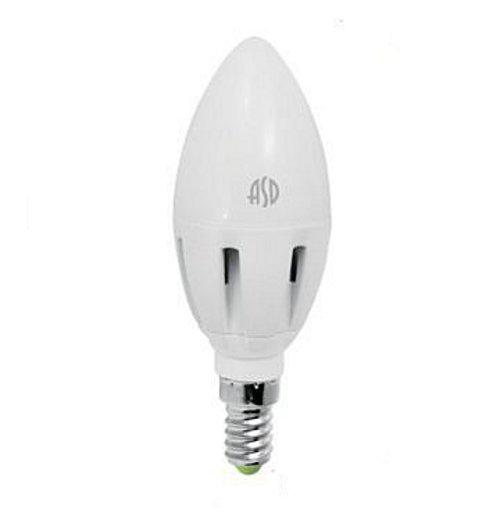 Лампочка ASD LED-СВЕЧА-Standard E14 5W 3000K 160-260V 4690612002200