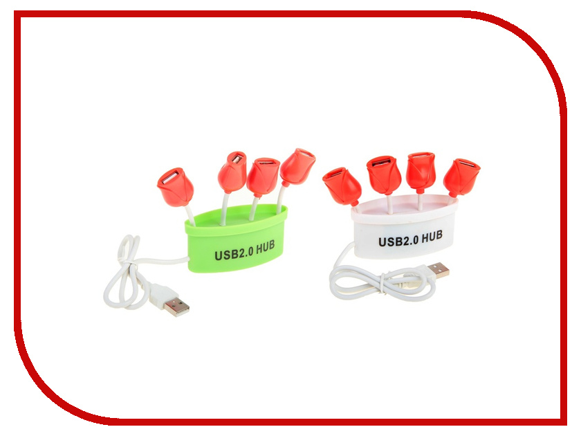Хаб USB Luazon Тюльпаны G-734 4-ports 606709<br>