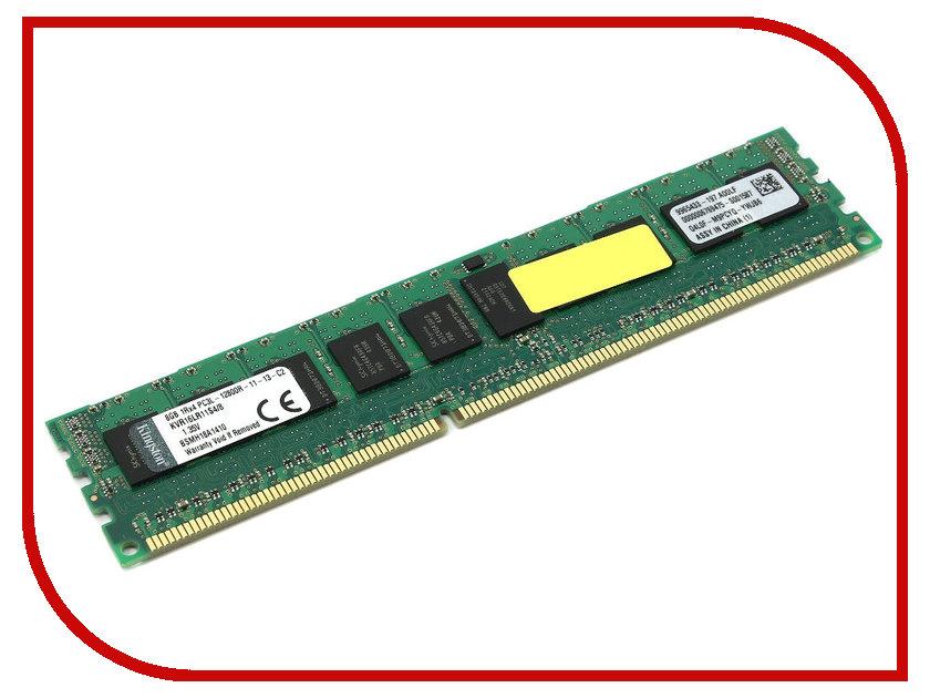 Модуль памяти Kingston PC3-12800 DIMM DDR3L 1600MHz ECC Reg CL11 SR x4 1.35V w/TS - 8Gb KVR16LR11S4/8<br>