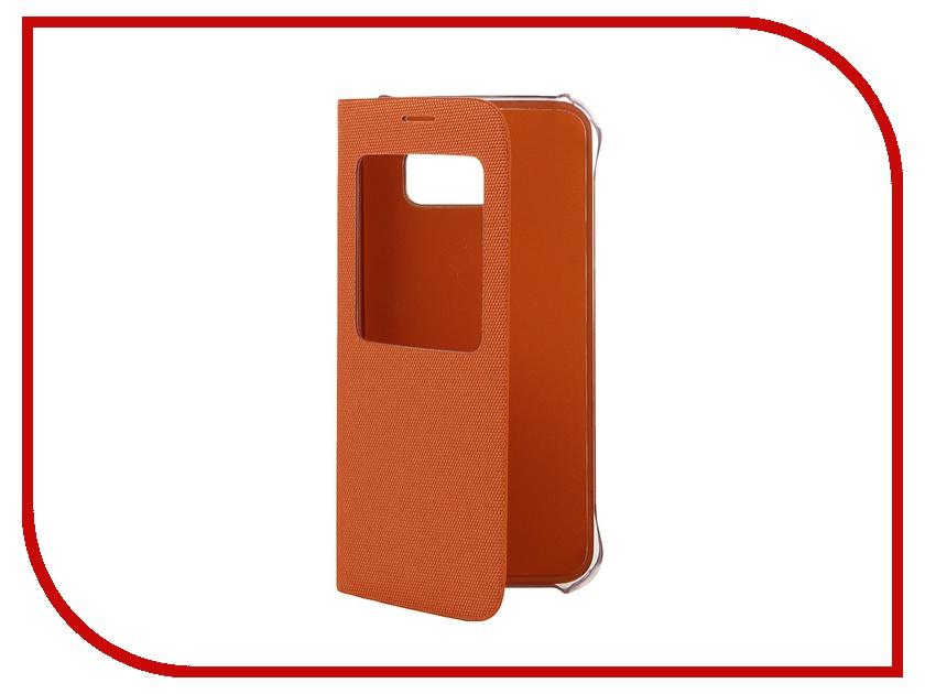Аксессуар Чехол Samsung SM-G920 Galaxy S6 Flip S-View Fabric Orange EF-CG920BOEGRU<br>