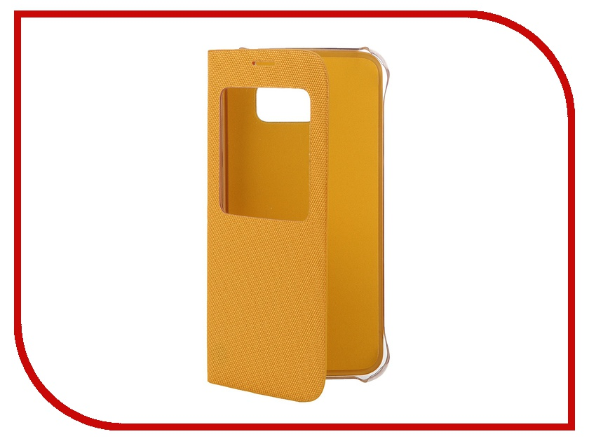 Аксессуар Чехол Samsung SM-G920 Galaxy S6 Flip S-View Fabric Yellow EF-CG920BYEGRU<br>