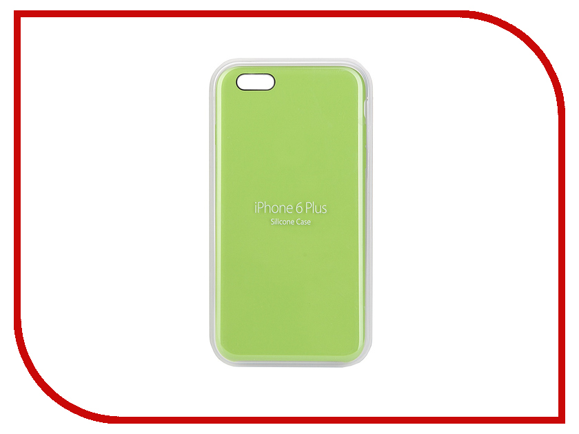 Аксессуар Чехол APPLE iPhone 6 Plus Silicone Case Green MGXX2ZM/A<br>