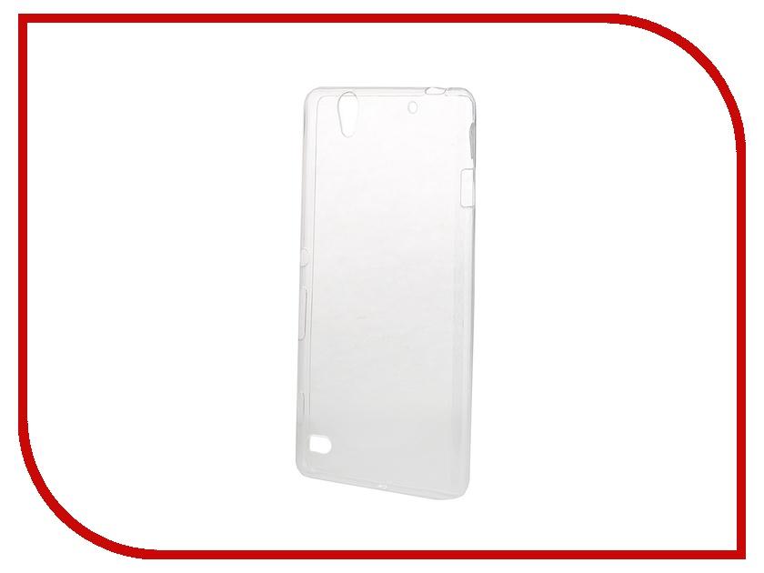 Аксессуар Чехол-накладка Sony Xperia C4 BROSCO силиконовый Transparent C4-TPU-TRANSPARENT<br>